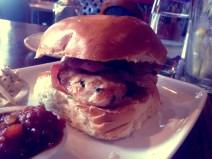 Chicken burger at the drake