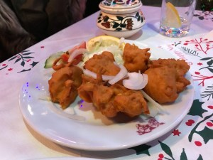 cauliflower pakora alishan Indian restaurant Glasgow review