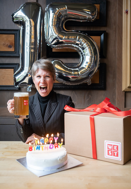WEST brewery celebrates its 15th birthday, March 2021