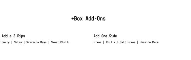 salt and chilli oriental menu