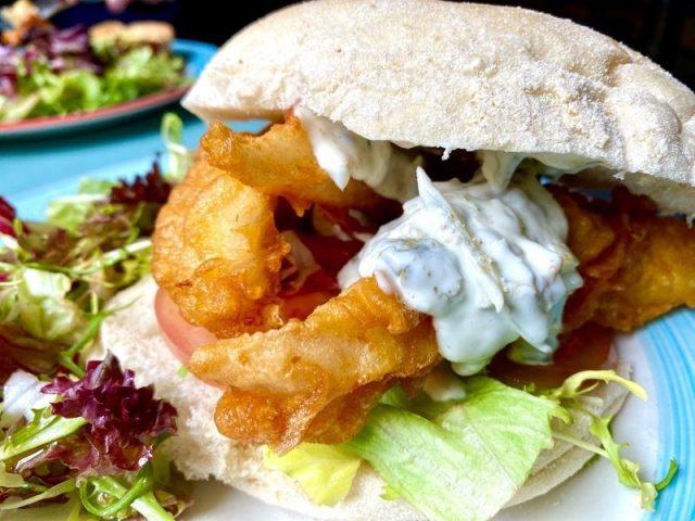 the boathouse rouken glen fish finger sandwich