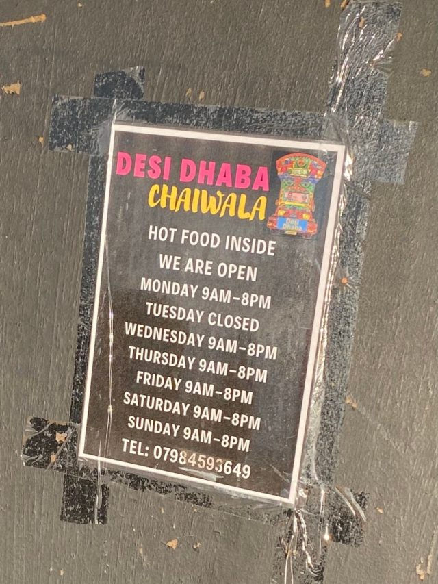 Opening hours Lamb curry Breakfast Desi Dhaba Chaiwala