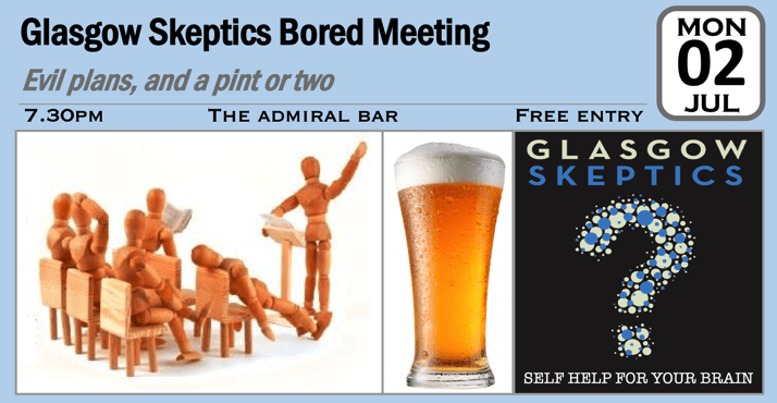 Bored Meeting event poster