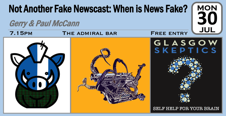 Fake News event poster