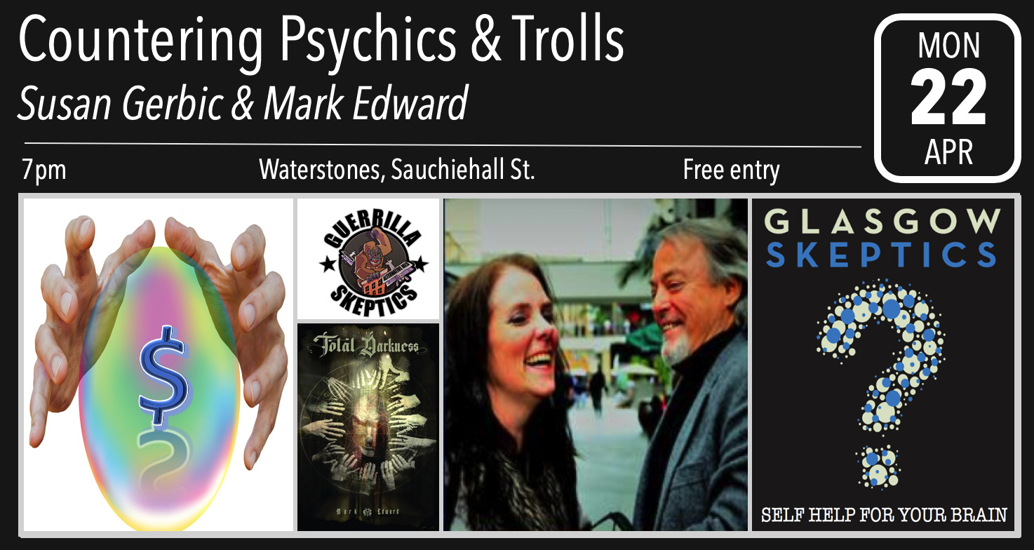 Countering Psychics & Trolls event poster
