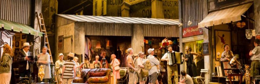 flea market scene la boheme scottish opera