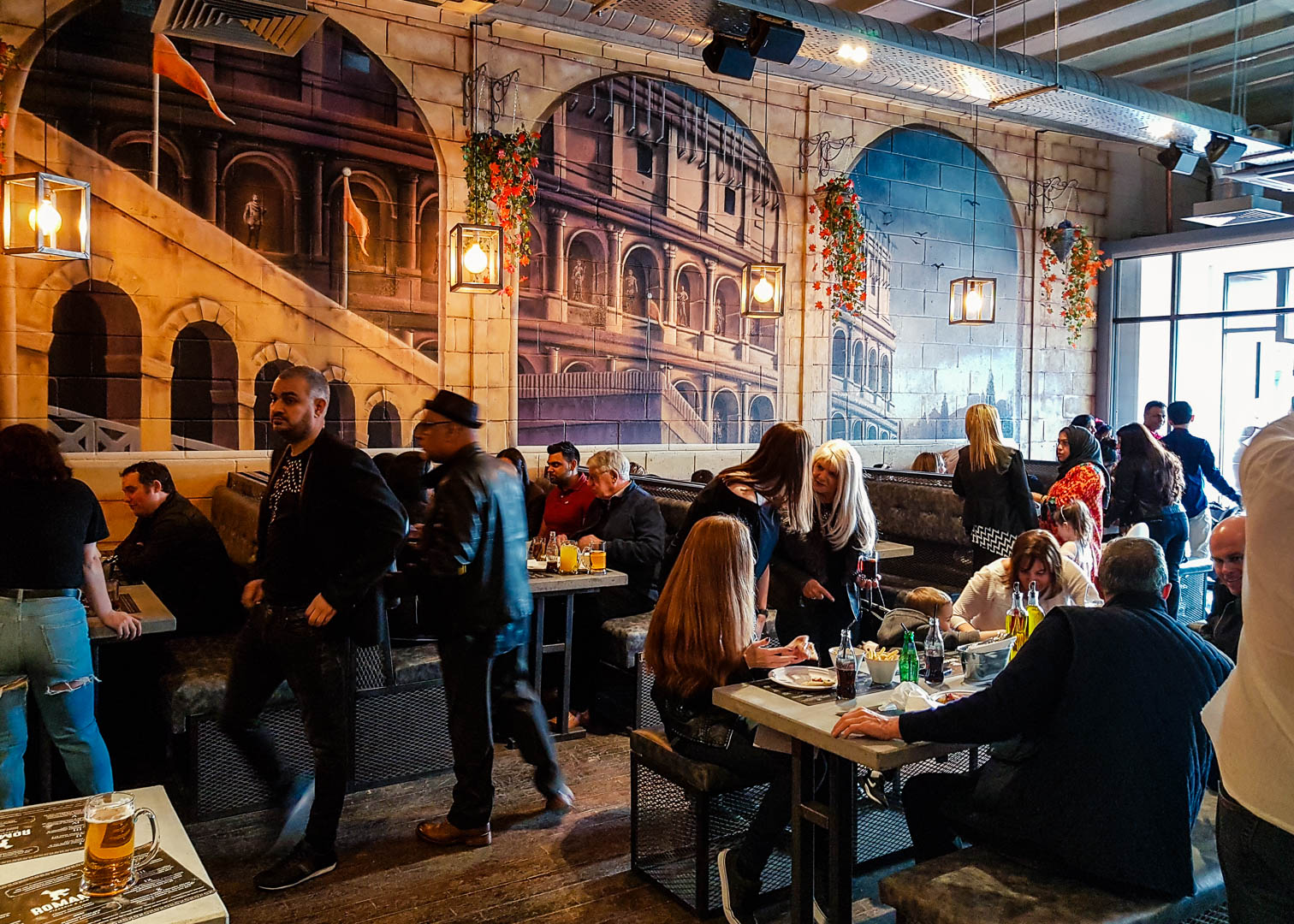 The interior of the new vegan-friendly restaurant Romans Pizzeria Glasgow.