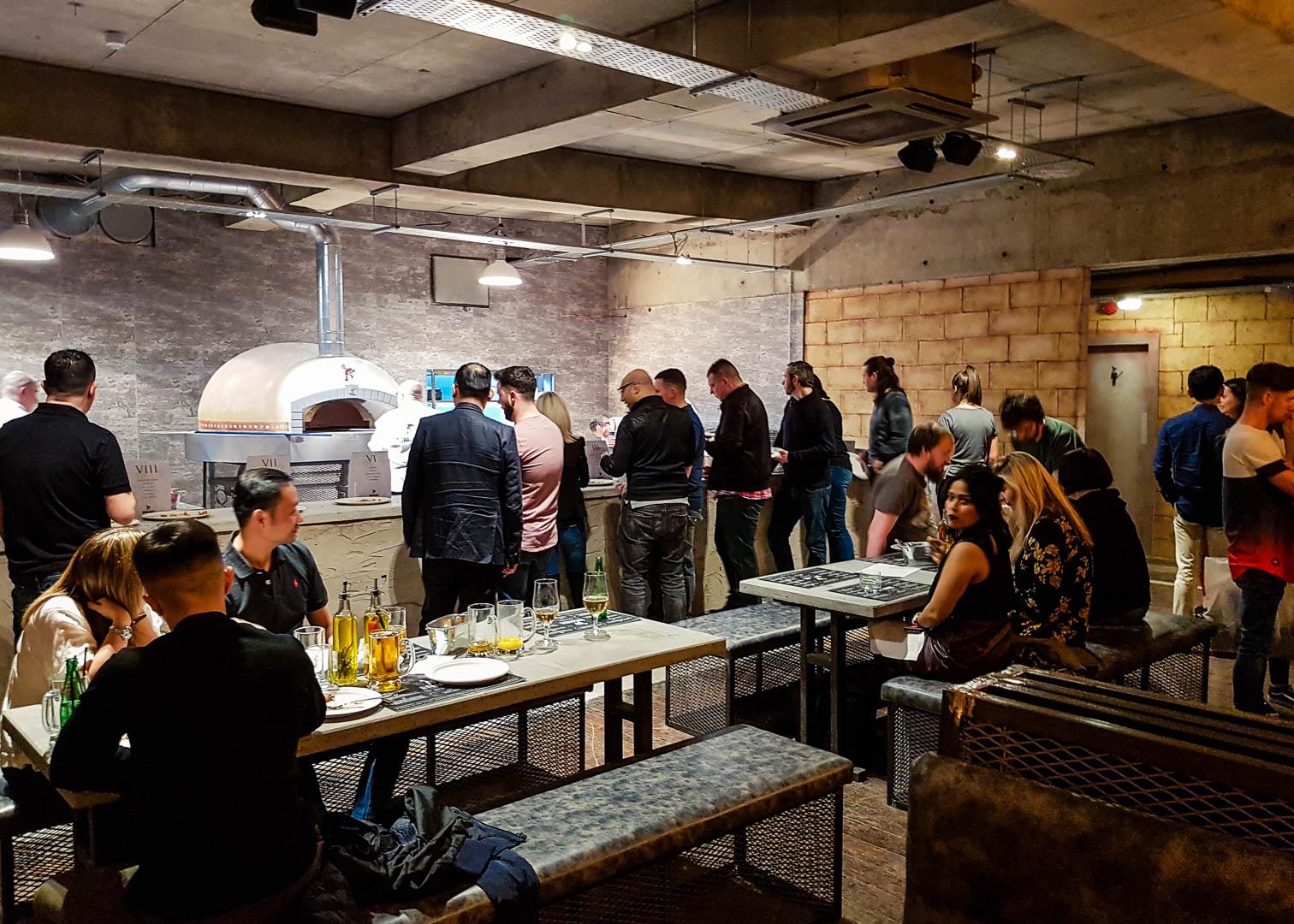 The open kitchen at the new vegan-friendly restaurant Romans Pizzeria Glasgow.