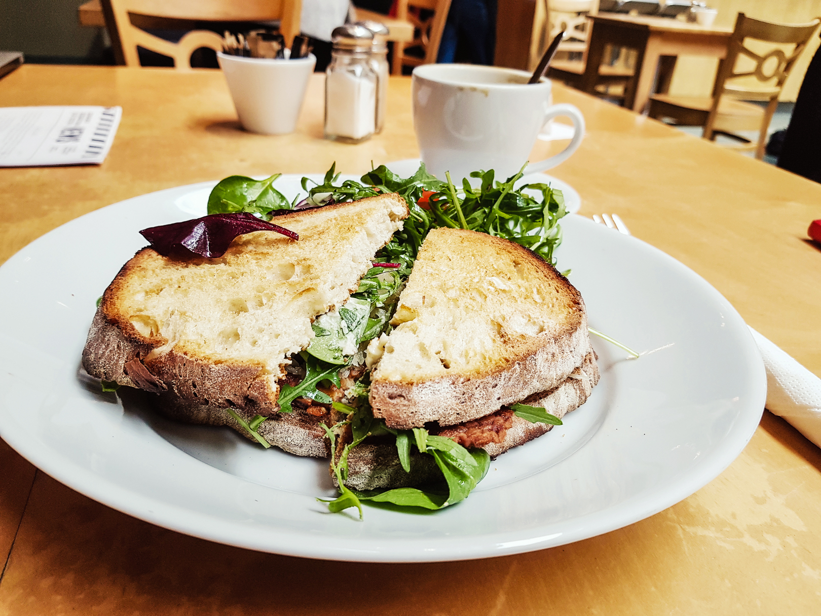 Reuben Sandwich with fresh salad at Saramago Cafe Bar at the CCA in Glasgow.