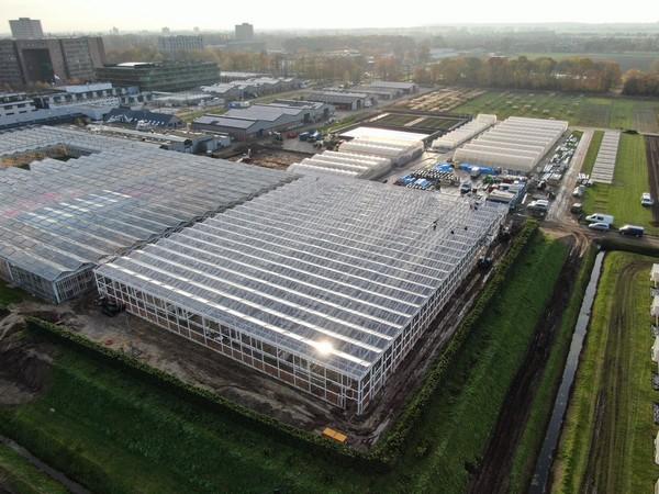 Greenhouse Wageningen Universiteit van boven af