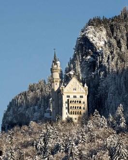 Schloss Neuschwanstein im Winter 1