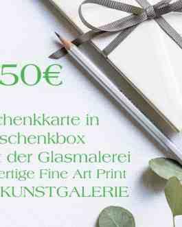 50 Euro Grün Geschenkkarte in Geschenkbox
