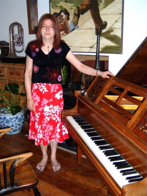 Diana Stone and a Baby Grand