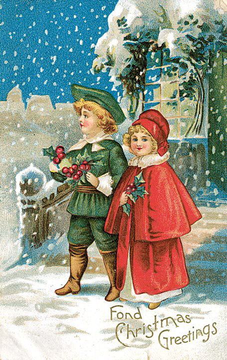 Antique Christmas Cards Glass4drops