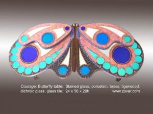 Butterfly rose blue w lettering