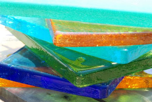 Dalle de Verre glass from Blenko Glass