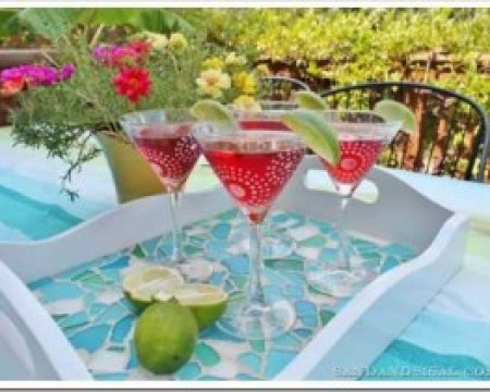 Frosted Martini Glasses