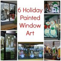 6 Holiday Painted Window Art