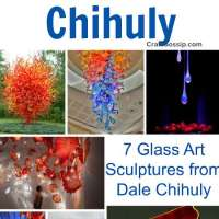 7 Glass Art Sculptures from Dale Chihuly