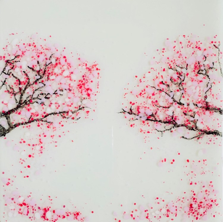 Glass By Tina 'Cherry blossom' splashback design