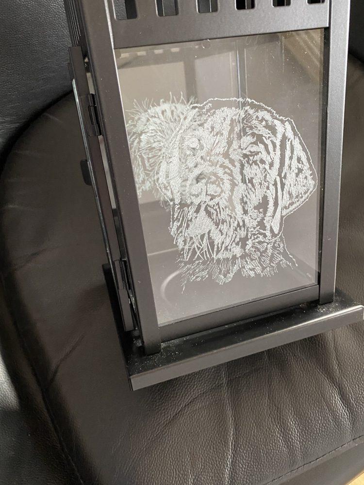 Glass By Tina 'Family friend 2' glass lantern