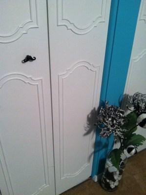 Mustache handles on the closet