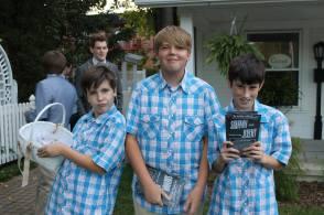 The Ushers: Noath Archer, Ethan Archer and Jack Szyperski (Photo by Shannon Szyperski)