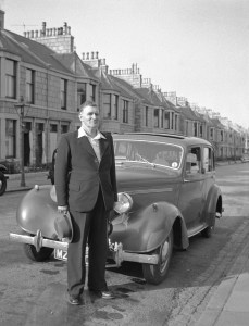 alec with his humber hawk
