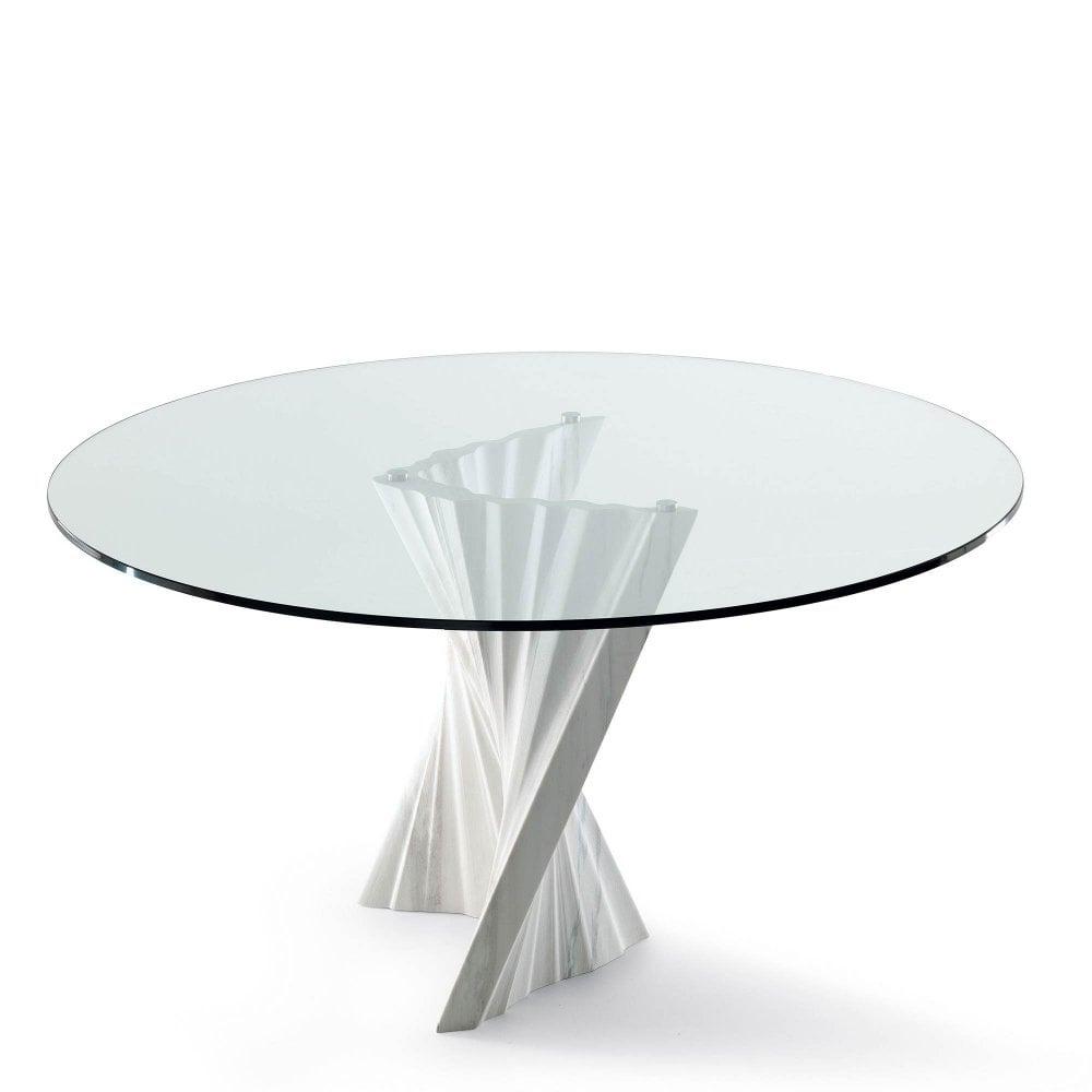 cattelan italia plisset glass dining table