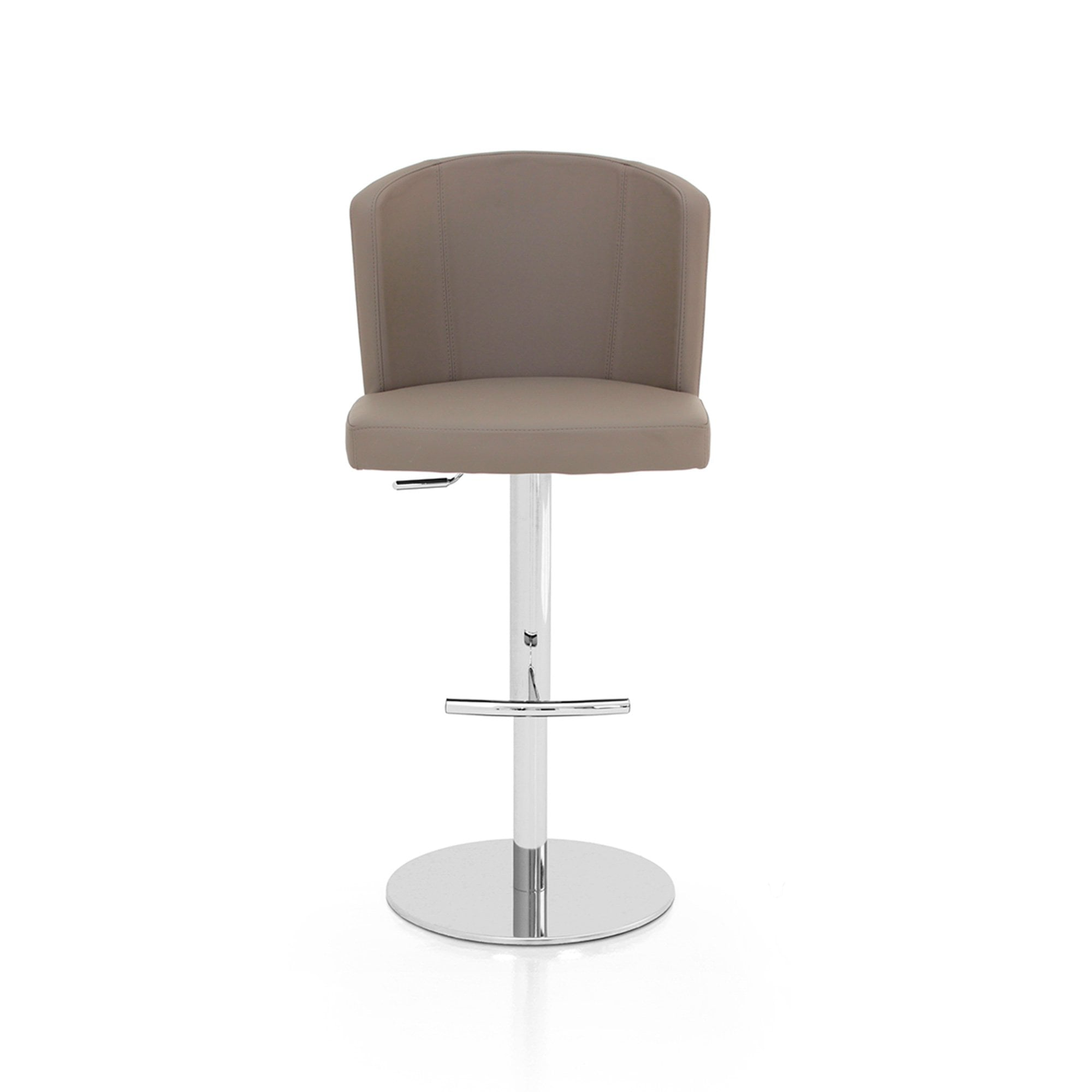 peressini casa doris s bar stool taupe and chrome