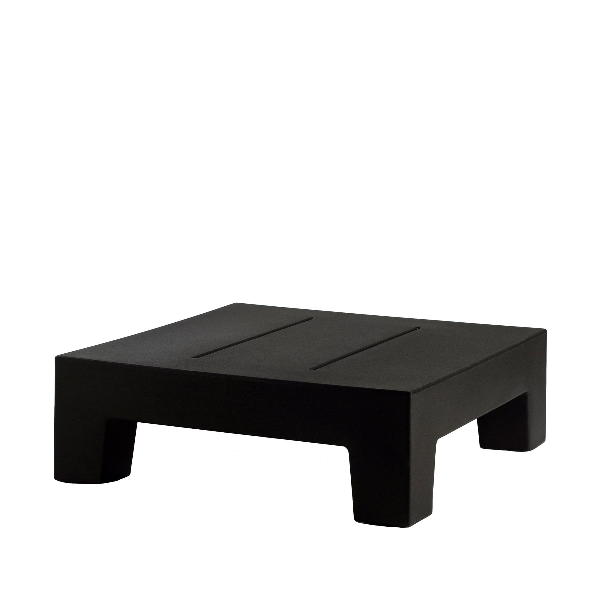 vondom small jut outdoor coffee table black