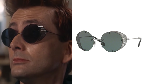 crowley demon sunglasses in Good Omens