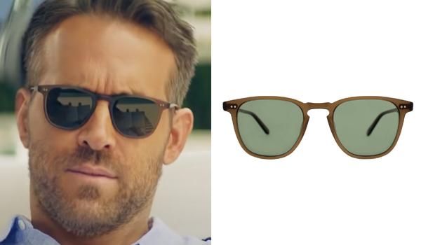 Ryan Reynolds sunglasses in Hitman's Wife's Bodyguard