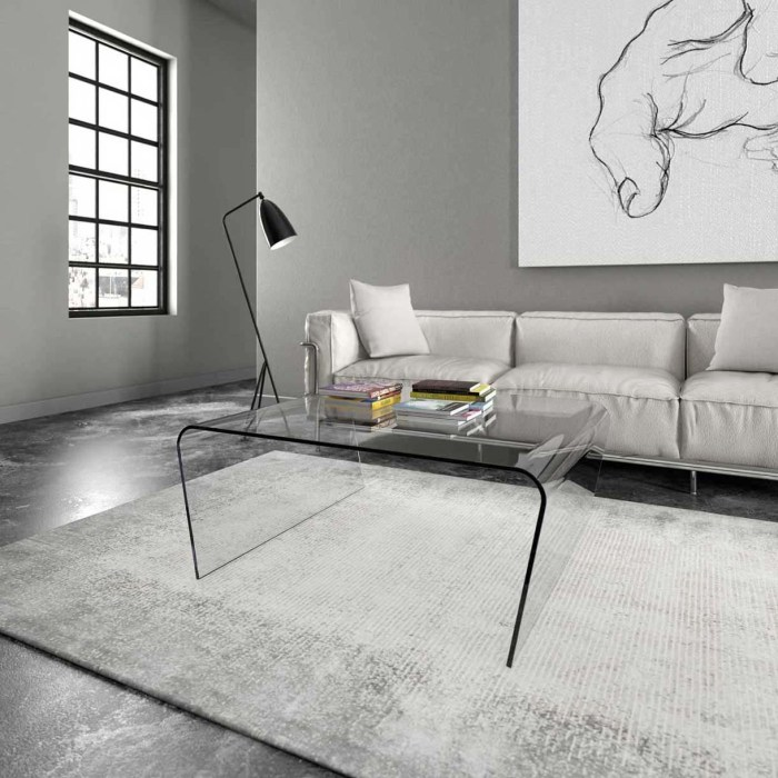 Curved Glass table - Oblique