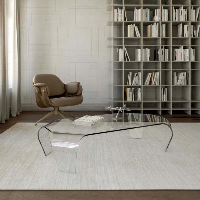 Apollo Curved Glass Coffee Table