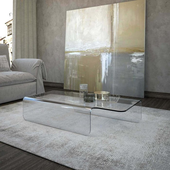 Rocco Curved Glass Table