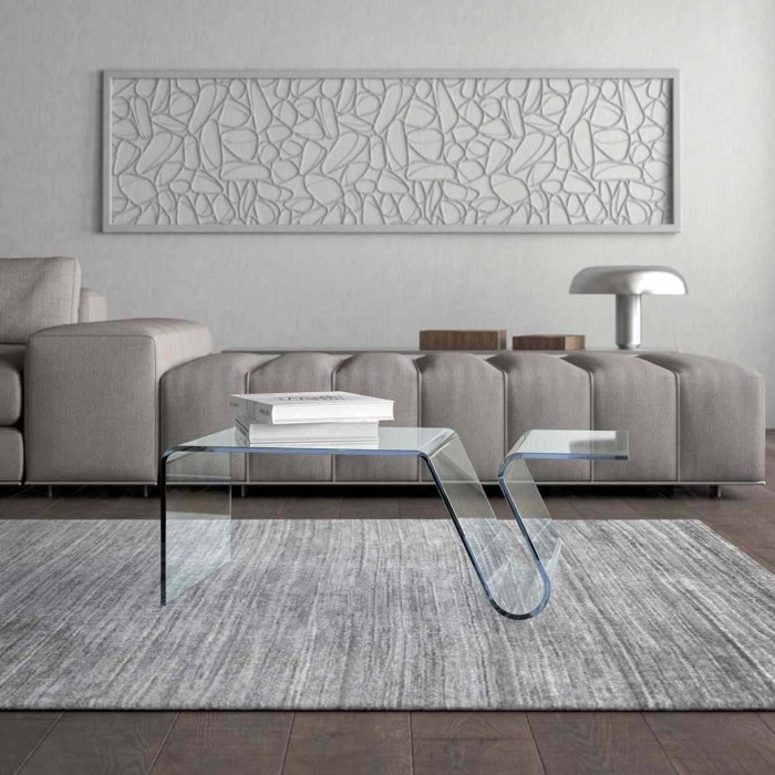 cleo curved glass table