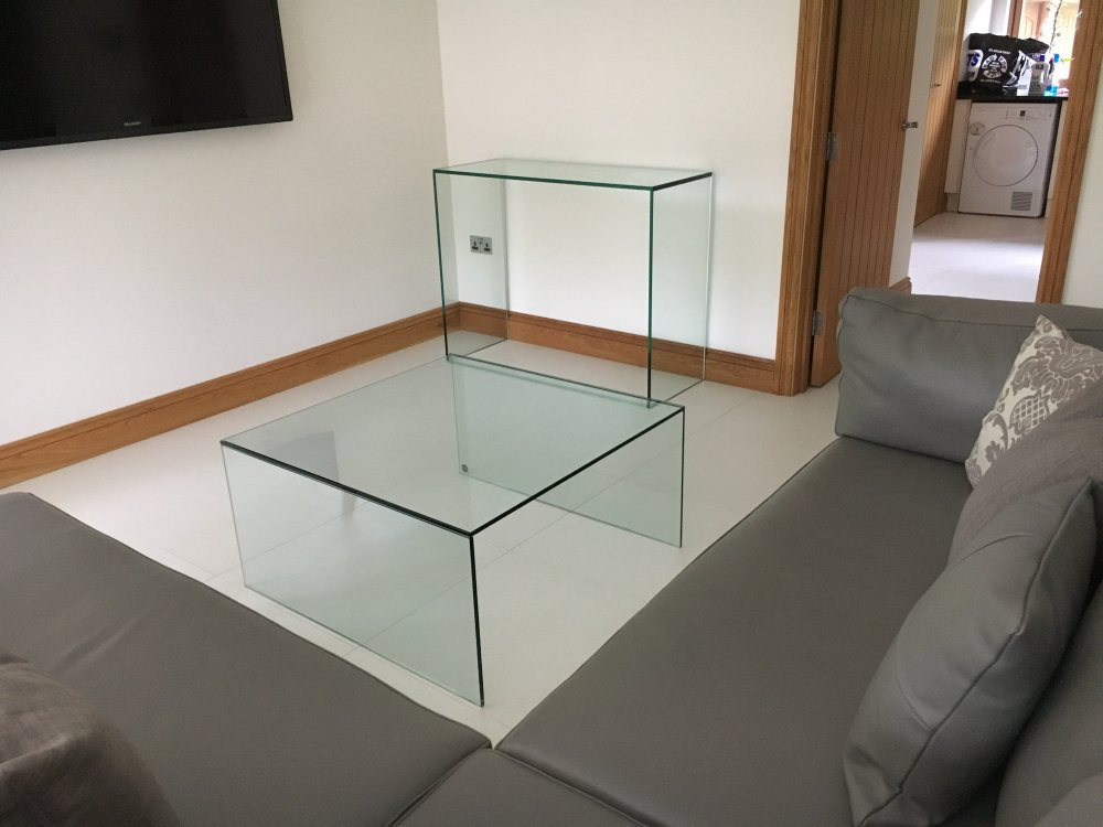 Glass Console and Coffee Table