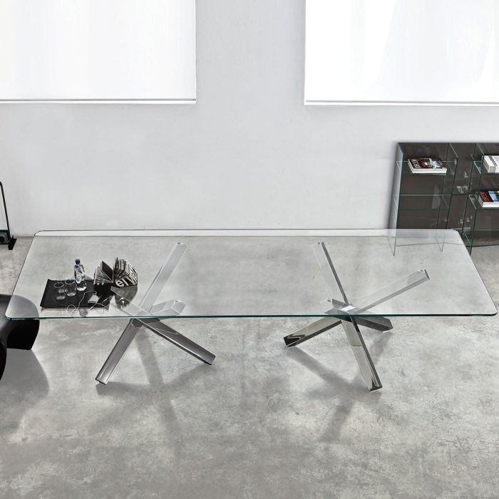 Large Glass dining Table - Aikido