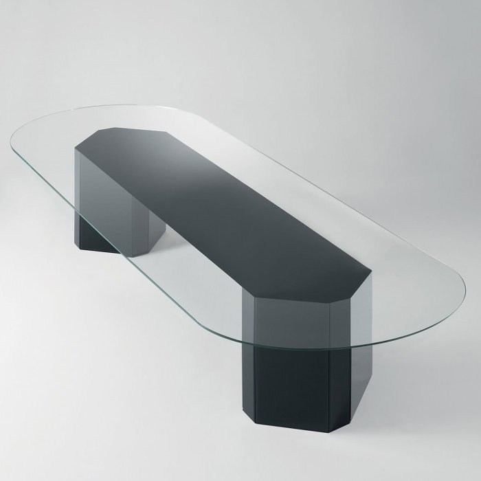 Akim Glass Table by Gallotti & Radice
