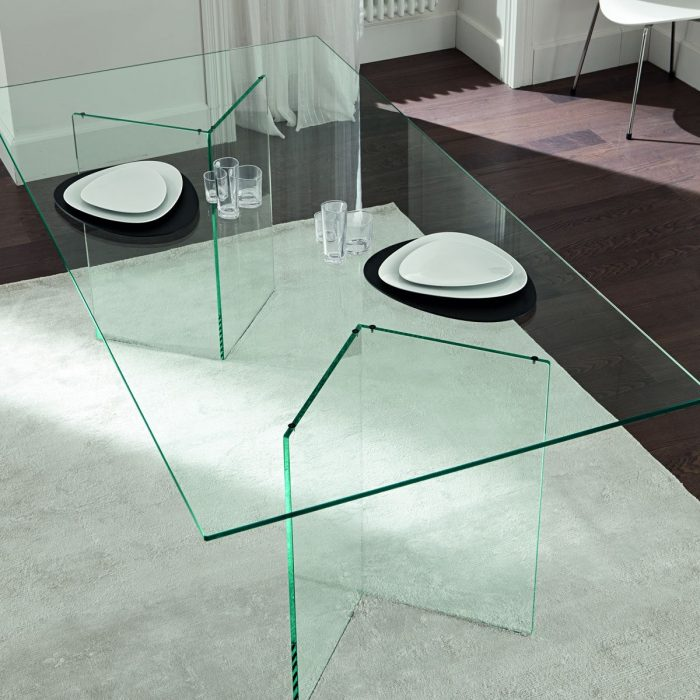 Bacco All Glass Dining Table Klarity