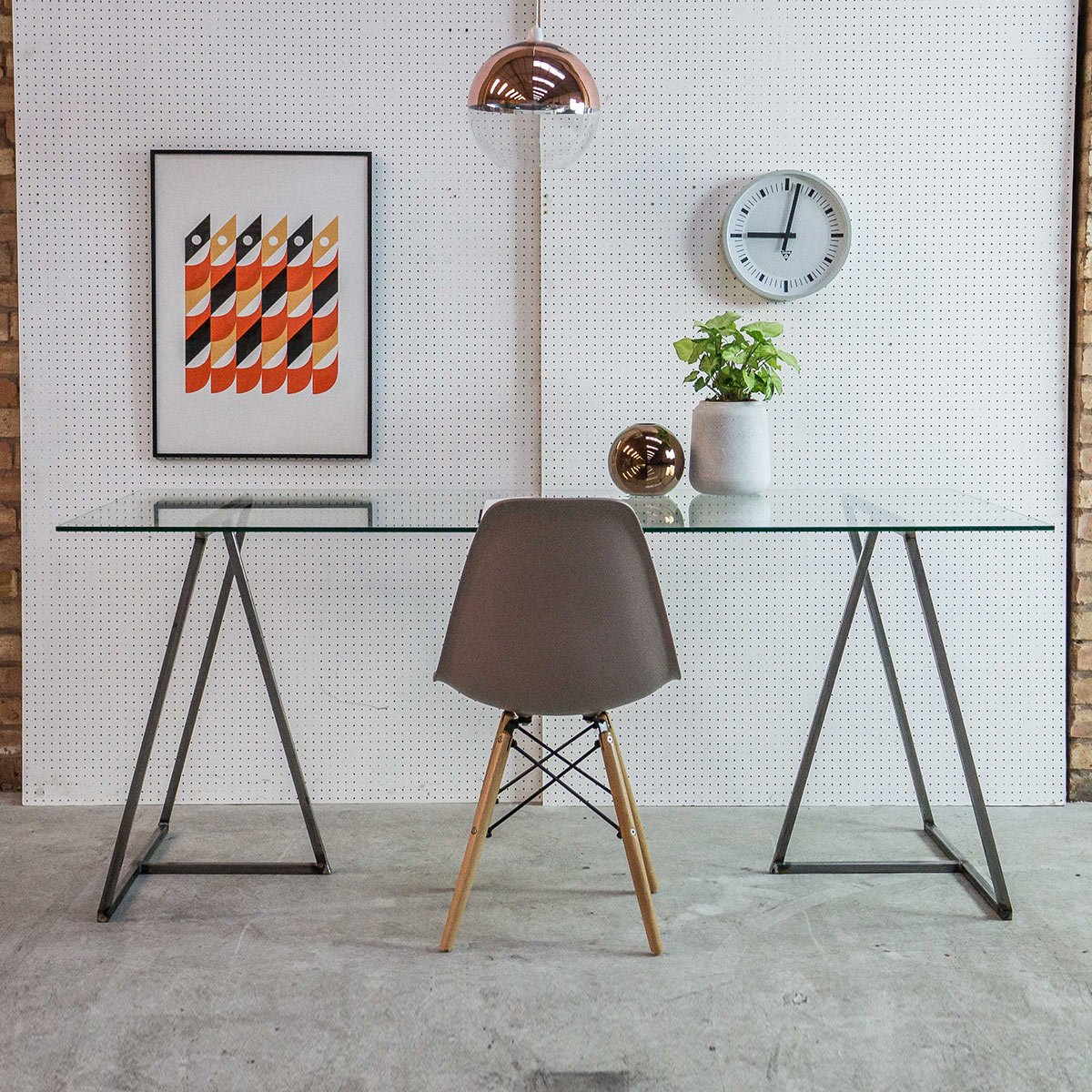 Industrial Trestle Desk