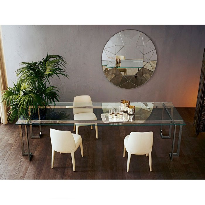 Lord Glass and Metal Table by Gallotti & Radice
