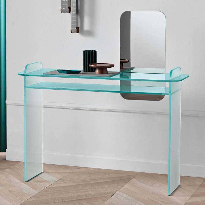 opalina glass console table with mirror tonelli