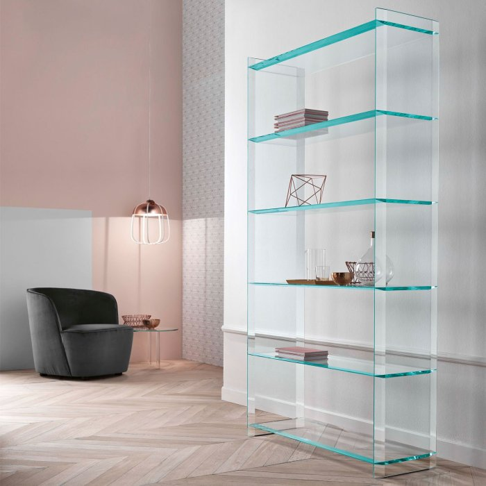 quiller glass shelving unit