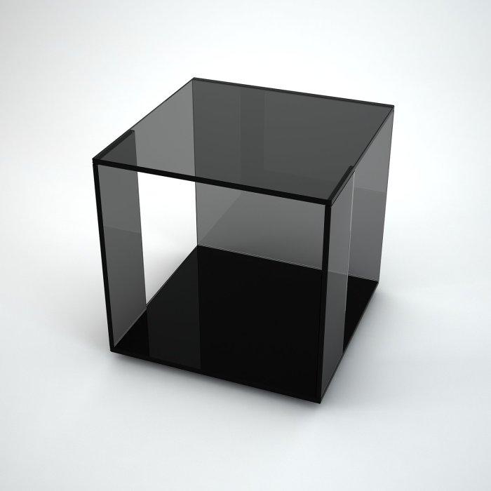 Tifino black glass table