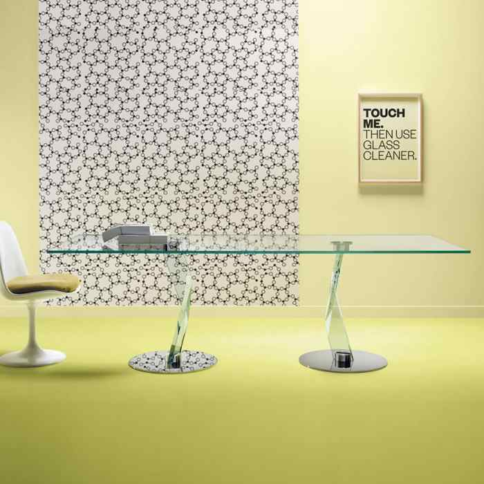 bakkarat glass dining table by tonelli