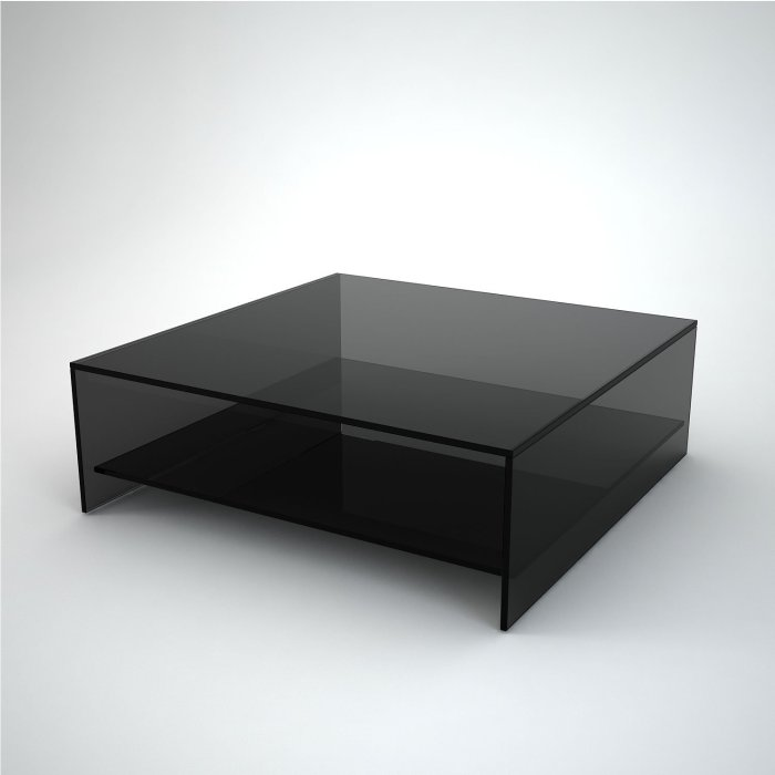 square black glass coffee table