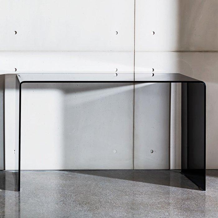 glass hallway table
