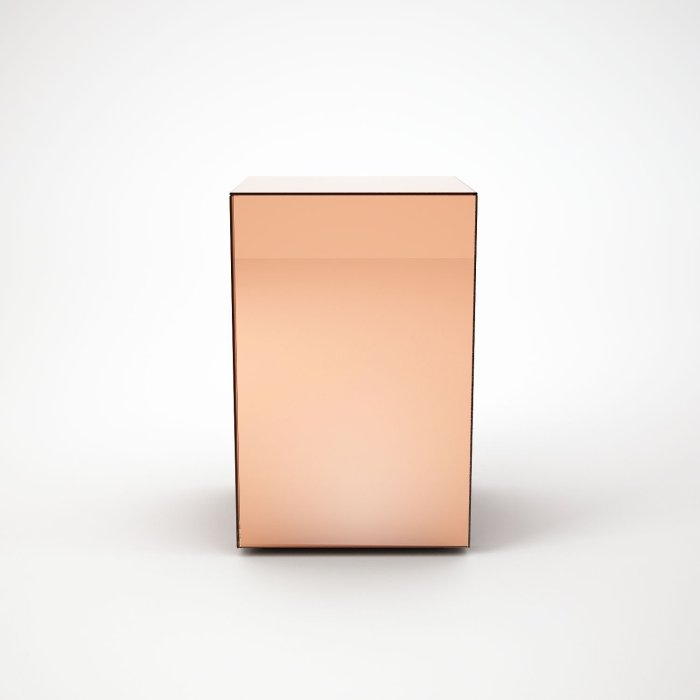 Copper Mirrored coffee table